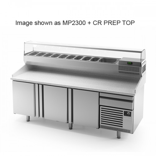 3 Door Pizza Prep Counter 700L