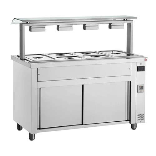 Gastronorm Bain Marie With Single Sneeze Guard & Ambient Base