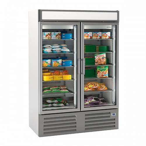 Double Glass Door Freezer Merchandiser 1000L