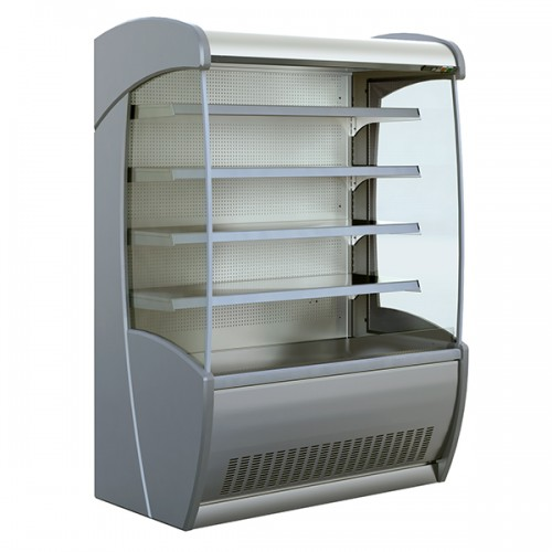 General Purpose and Fresh Meat Tiered Display Stainless Steel 877mm Depth