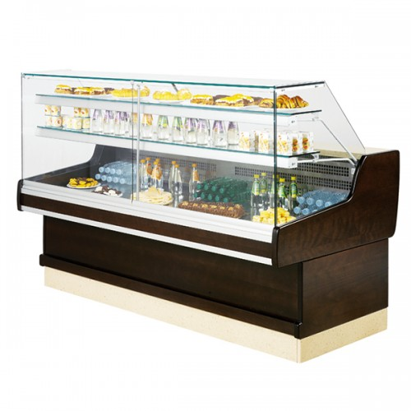 Flat Glass Serve Over Display