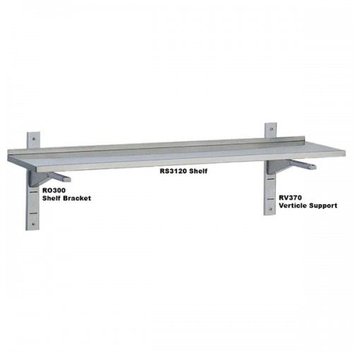 Solid adjustable wall shelves