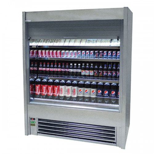 Tiered Display With Lockable Shutter