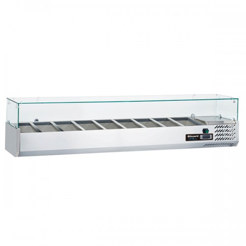 1/3 Gastronorm Prep Top with Glass Cover 2000mm(W)