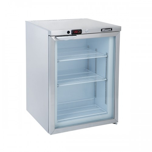 Glass Door S.S Under Counter Freezer 105L