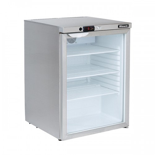 Glass Door S.S Under Counter Refrigerator 145L