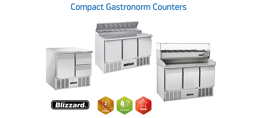Blizzard launches a new range of compact gastronorm counters
